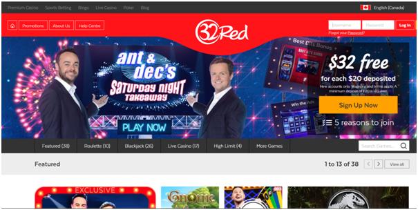 32 Red Casino Canada