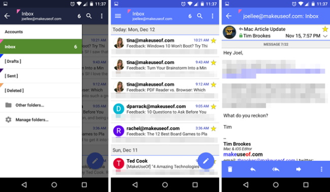 6 Popular Email Apps for Android to Organize your Mailbox