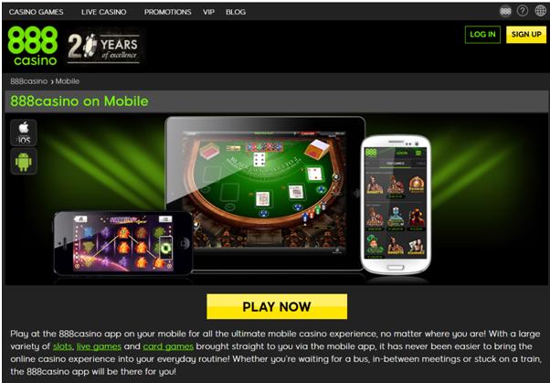 888 Casino Tablets