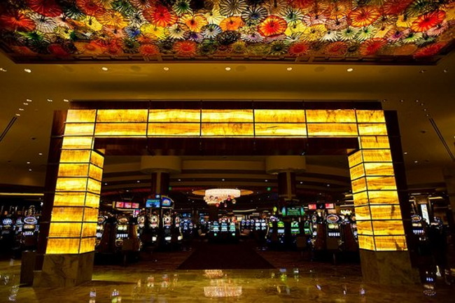 At the casino entrances