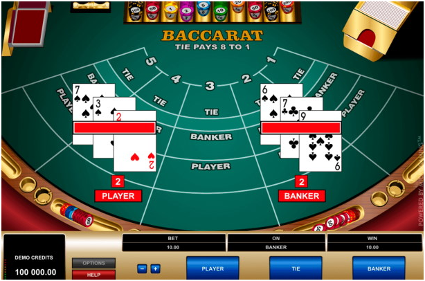 Baccarat by Microgaming at Canadian online casino