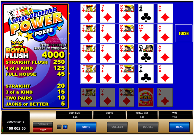 Best casino games to play- Video poker