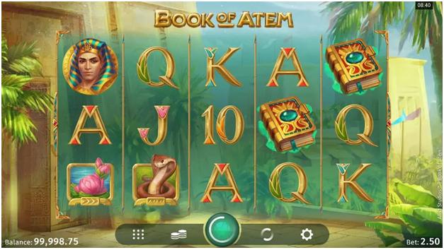 Book of Atem slot at Canadian online casinos