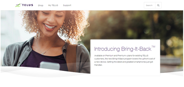 Bring it back program by Telus Canada