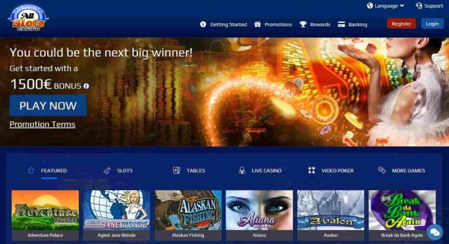 Customer Support At All Slots Casino