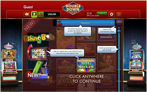Getting started at Double Down Casino app
