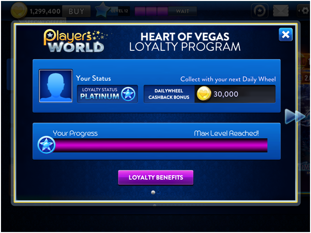 Heart of Vegas Loyalty Program
