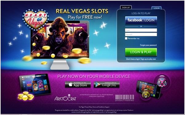 Herat of Vegas app