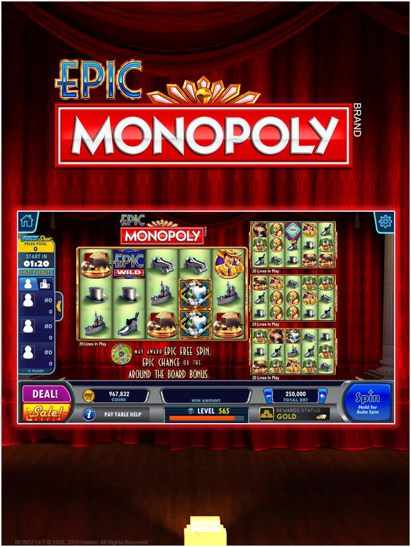Hot shot casino- Monopoly game