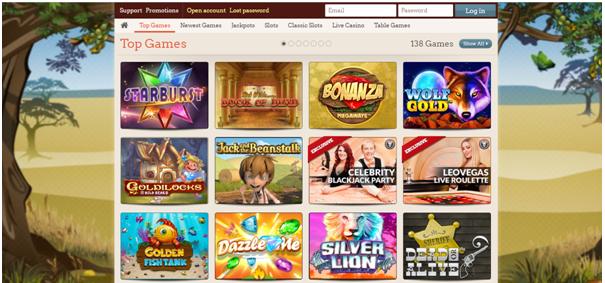 Leo Vegas Casino Games