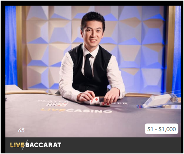 Live Baccarat at Play Now Canada