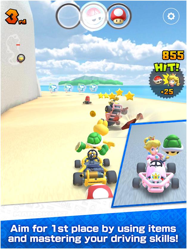 Mario kart tour app- game features