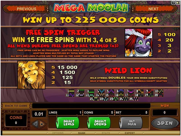 How to play Mega Moolah with Android and predict the wins?