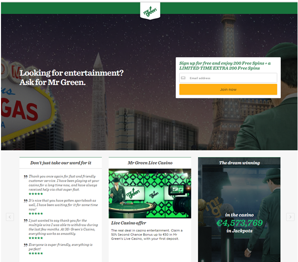 Mr Green Casino Canada