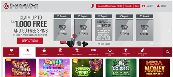 platinum play casino promo codes