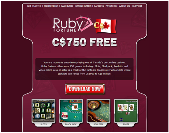 Ruby Fortune real money casino app