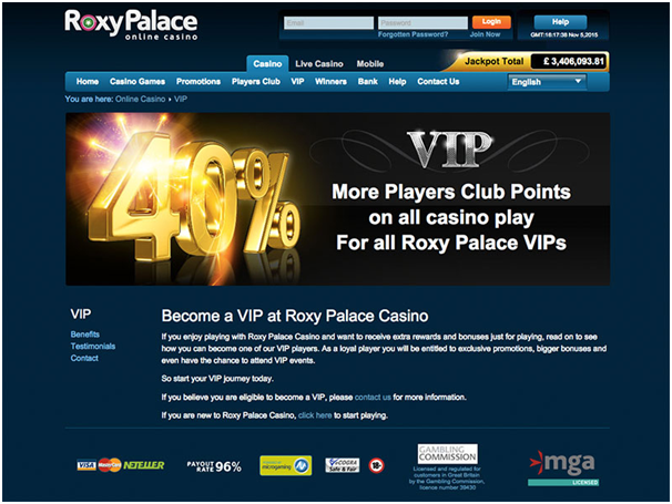 Roxy palace casino Canada