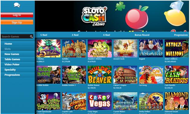 Slotocash casino games to play