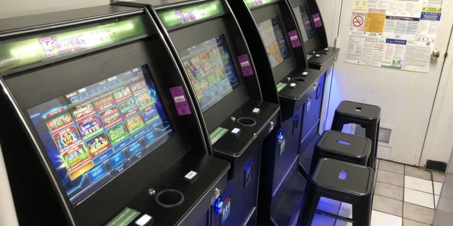 Slots located near ticket or show lines