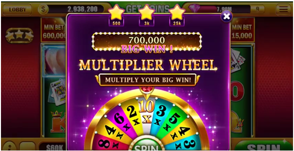 Slots of vegas app Android- Multiplier feature