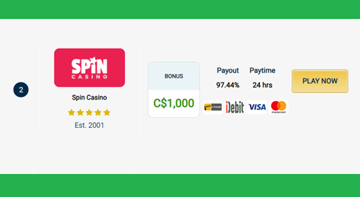 Spin Casino - Canadian online Casino To Play Online Baccarat