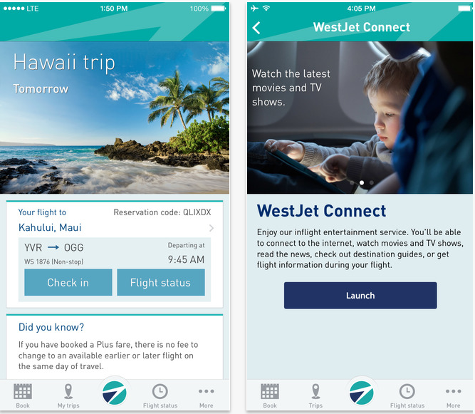 West Jet App