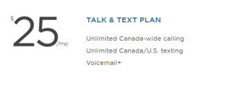 Wind Mobile Talk and Text Plan