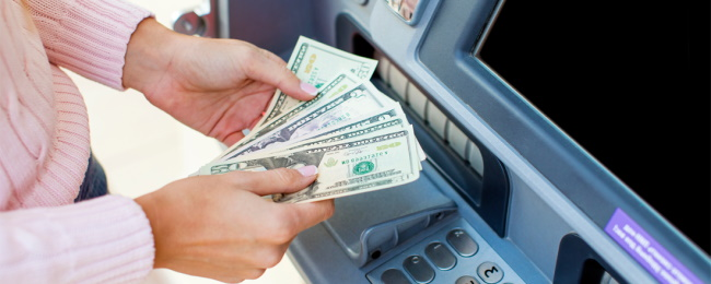 Withdrawing money with Visa