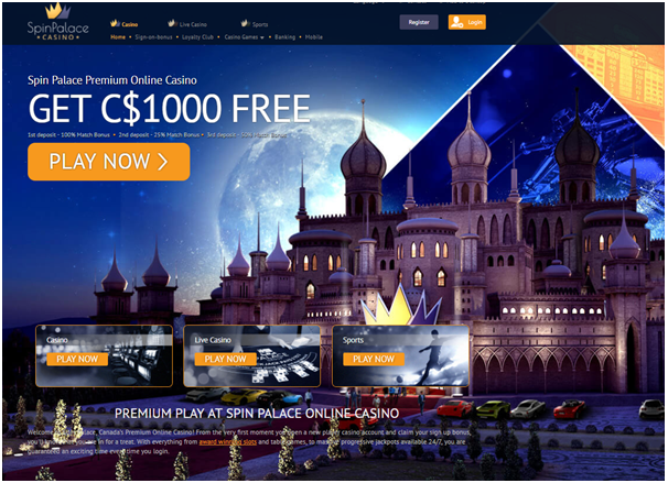 How to play Live Casino with Android- Spin Palace Casino
