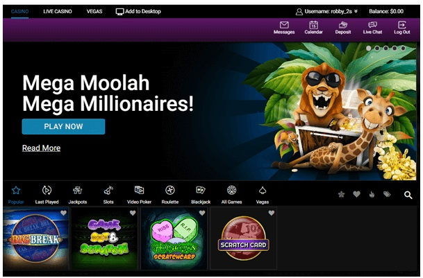 play Scratch cards at Jackpot City Casino with your Android