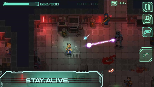 Endurance retro-style action shooter game